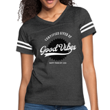Good Vibes Giver - Women's Vintage Sport T-Shirt - vintage smoke/white