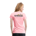 Happy Outdoors - Women's Premium T-Shirt - pink