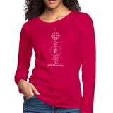 Good Karma Lives - Women's Premium Long Sleeve T-Shirt - dark pink