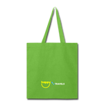 Happy Travels Map - Tote Bag - lime green