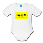 Happy Baby - Organic Short Sleeve Baby Bodysuit - white