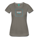Good Vibes - Women's Premium T-Shirt - asphalt gray