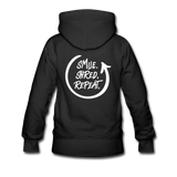 Smile. Shred. Repeat - Women's Premium Hoodie - black
