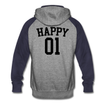 Happy One - Unisex Colorblock Hoodie - heather gray/navy