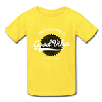 Good Vibes Giver - Youth Tagless T-Shirt - yellow
