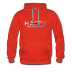 Happy Snowboarding - Men's Premium Hoodie - red