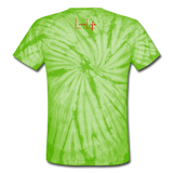 Love Life (Heart) - Unisex Tie Dye T-Shirt - spider lime green