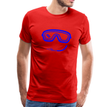 Happy (Goggles) - Men's Premium T-Shirt - red
