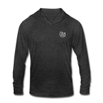 Smile. Shred. Repeat - Unisex Tri-Blend Hoodie Shirt - heather black