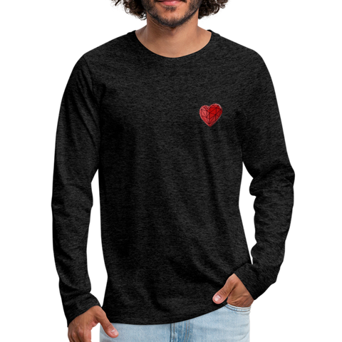 Love Life (Heart) - Men's Premium Long Sleeve T-Shirt - charcoal gray