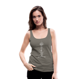 Good Karma Lives - Women's Premium Tank Top - asphalt gray