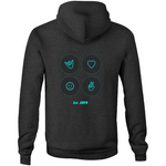 Icons (Night) - Pocket Hoodie Sweatshirt
