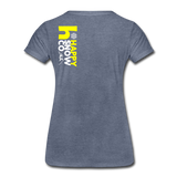 Happy - Women's Premium T-Shirt - heather blue