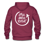 Smile. Shred. Repeat - Men's Premium Hoodie - burgundy