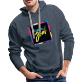 Beautiful Soul - Men's Premium Hoodie - heather denim