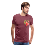 Happy Bloom - Premium T-Shirt - heather burgundy