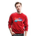 Love & Happiness Forever - Crewneck Sweatshirt - red