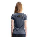 Happy Outdoors - Women's Premium T-Shirt - heather blue