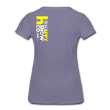 Happy - Women's Premium T-Shirt - washed violet
