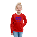 Happy (Goggles) - Kids' Premium Long Sleeve T-Shirt - red
