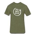 Smile. Shred. Repeat - Fitted Cotton/Poly T-Shirt by Next Level - heather military green