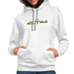 Happy Outdoors - Contrast Hoodie - white/gray