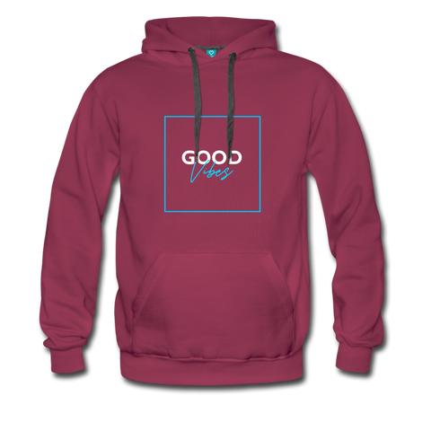 Good Vibes Bright - Men's Premium Hoodie - burgundy