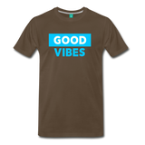 Good Vibes (Cool Blue) - Men's Premium T-Shirt - noble brown