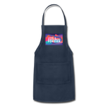 Love & Happiness Forever - Adjustable Apron - navy