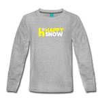Happy Snow - Kids' Premium Long Sleeve T-Shirt - heather gray