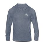Smile. Shred. Repeat - Unisex Tri-Blend Hoodie Shirt - heather blue