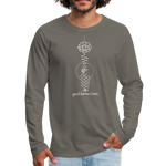 Good Karma Lives - Men's Premium Long Sleeve T-Shirt - asphalt gray