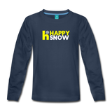 Happy Snow - Kids' Premium Long Sleeve T-Shirt - navy