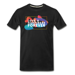 Love & Happiness Forever - Men's Premium Organic T-Shirt - black