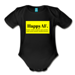 Happy Baby - Organic Short Sleeve Baby Bodysuit - black
