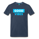 Good Vibes (Cool Blue) - Men's Premium T-Shirt - navy
