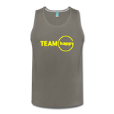 Team Happy - Men's Premium Tank - asphalt gray
