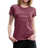 Harmony - Women's Premium T-Shirt - heather burgundy
