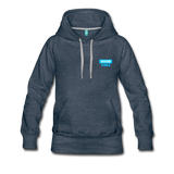 Good Vibes (Cool Blue) - Women's Premium Hoodie - heather denim