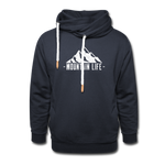 Mountain Life - Shawl Collar Hoodie - navy