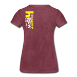 Happy - Women's Premium T-Shirt - heather burgundy