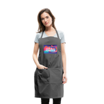 Love & Happiness Forever - Adjustable Apron - charcoal
