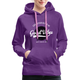Good Vibes Giver - Women's Premium Hoodie - purple