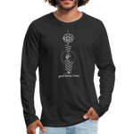 Good Karma Lives - Men's Premium Long Sleeve T-Shirt - black