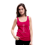 Good Karma Lives - Women's Premium Tank Top - dark pink