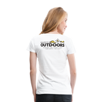Happy Outdoors - Women's Premium T-Shirt - white
