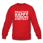Happy Thinking - Crewneck Sweatshirt - red