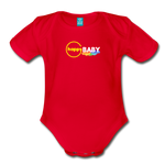 Happy Baby - Organic Short Sleeve Baby Bodysuit - red
