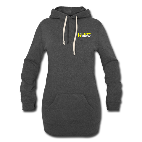 Happy Snow - Women's Hoodie Dress - heather black