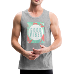 Good Vibes (Summer) - Men's Premium Tank - heather gray